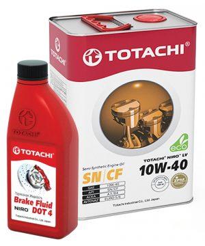TOTACHI NIRO LV Semi-Synthetic10W-404л + NIRO Brake Fluid DOT-4 0.5л